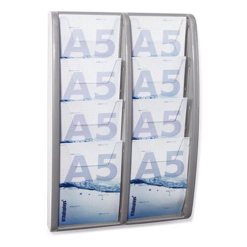 HL Displays DIN A5 / 2x4 Etg. / Wandmontage (Grau)