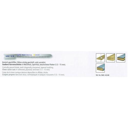 5 Stichsägeblätter 70/50mm CV , für Black & Decker , für Kurvenschnitte