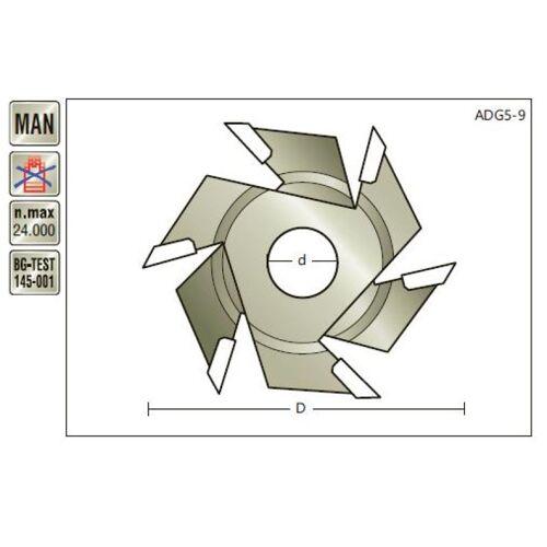 HM Nutsäge D 50 x SL 5-9 x Loch 12mm , Z=3+3 , verstellbar