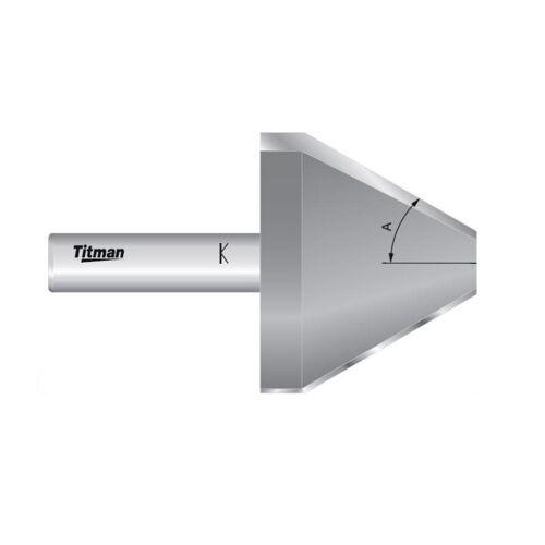 Fasenfräser D 53 x 30° x Schaft 12mm