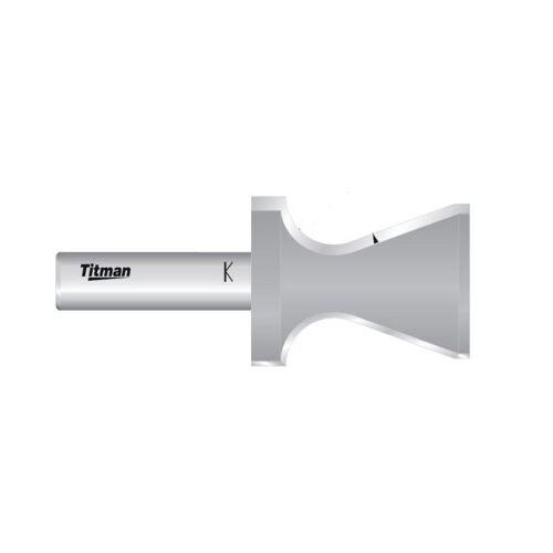 Abrundfräser D 25 x R 4 x S 12mm , mit Fasenfräser 70°