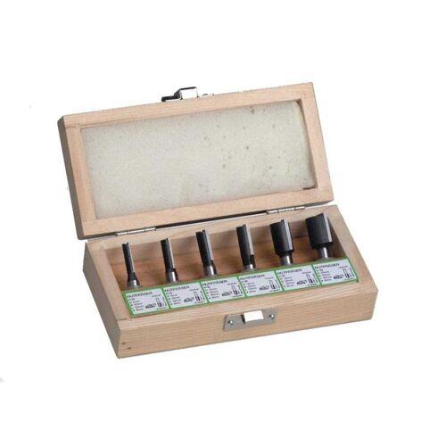HM-Fräsersatz Nutfräser 6, 8, 10, 12, 16, 20mm , Holzfräser , Schaft 8mm