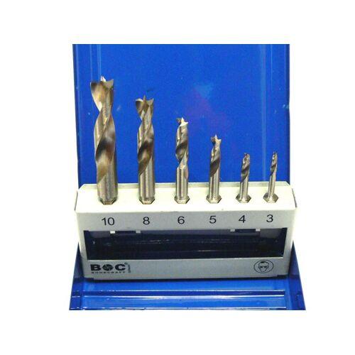Holzbohrersatz 3, 4, 5, 6, 8, 10mm mit Bitschaft, Bitbohrer
