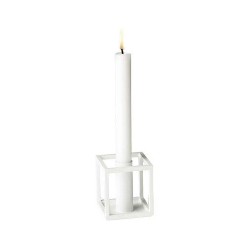 by Lassen - Kubus 1 Kerzenhalter, weiß