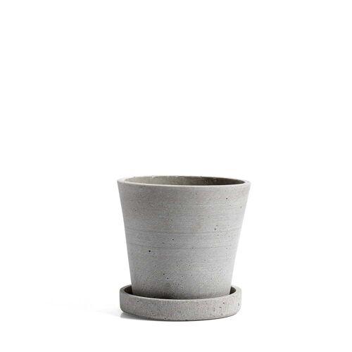 HAY - Blumentopf mit Untersetzer S, grau