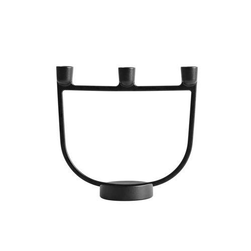 Muuto - Open Kerzenhalter, schwarz