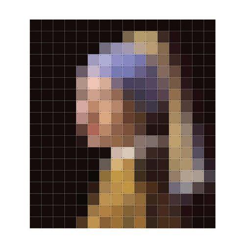 IXXI - Mädchen mit dem Perlenohrring (Pixel), 224 x 252 cm