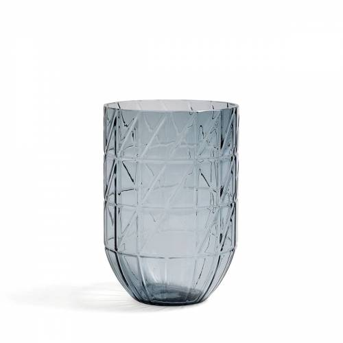HAY - Colour Vase Glasvase, L, blau