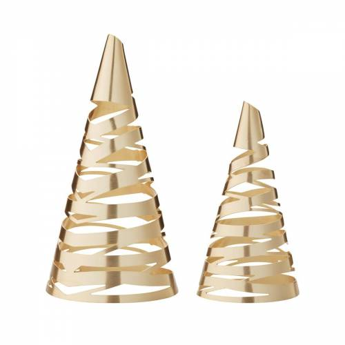 Stelton - Tangle Weihnachtsbaum 2er-Set, Messing