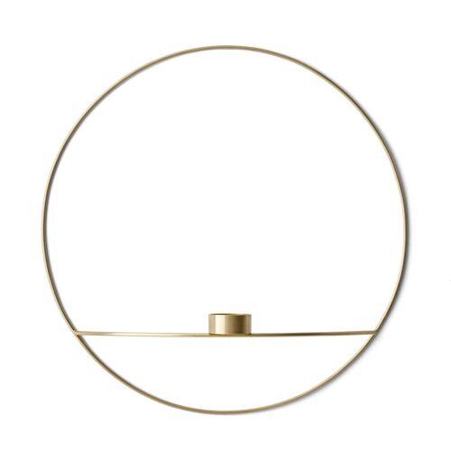 MENU - Pov Circle Teelichthalter, L / Messing