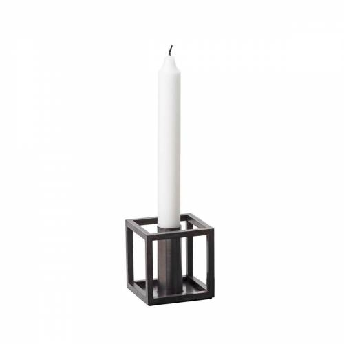 by Lassen - Kubus 1 Kerzenhalter, Kupfer brüniert