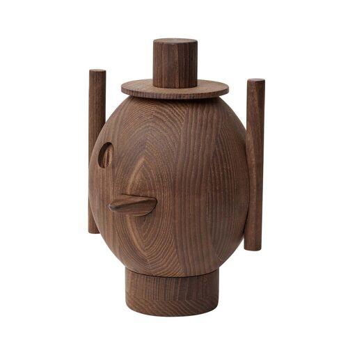 Fritz Hansen- Geo Holzskulptur, Ø 12,9 x H 18,4 cm, Esche dunkel