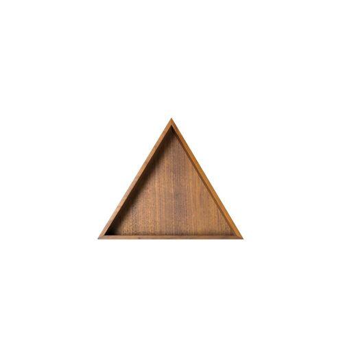 Conmoto - Karo Tablett, klein / Nussbaum