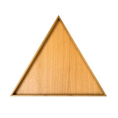 Conmoto - Karo Tablett, groß / Eiche