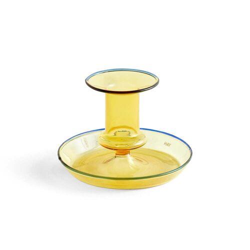 HAY - Flare Kerzenhalter, Ø 11 x H 7,5 cm, gelb