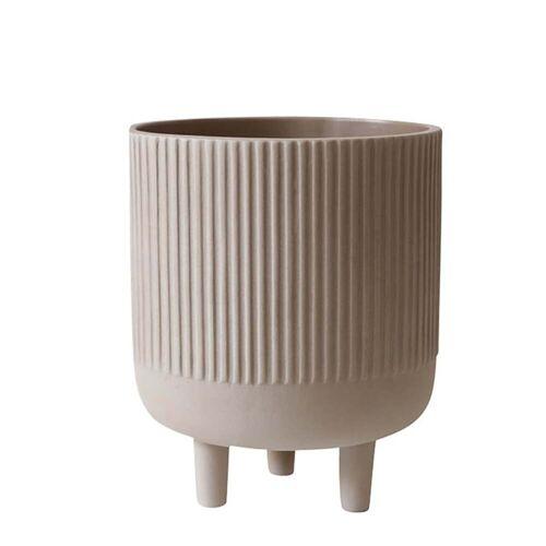 Kristina Dam Studio - Bowl Blumentopf L, Ø 18 cm, grau