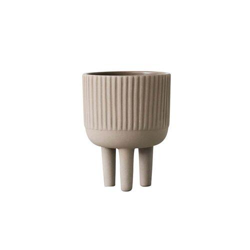 Kristina Dam Studio - Bowl Blumentopf S, Ø 12 cm, grau