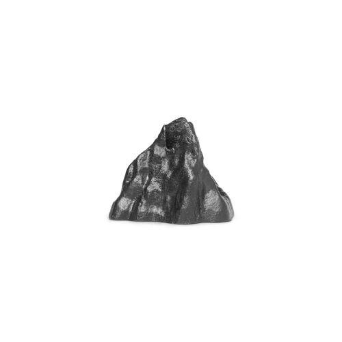 ferm LIVING - Stone Kerzenhalter small, Aluminium schwarz