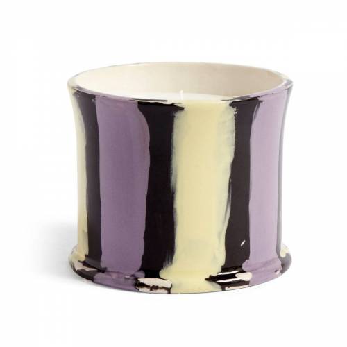 HAY - Stripe Duftkerze, Ø 10 x H 8,5 cm, Feigenblatt