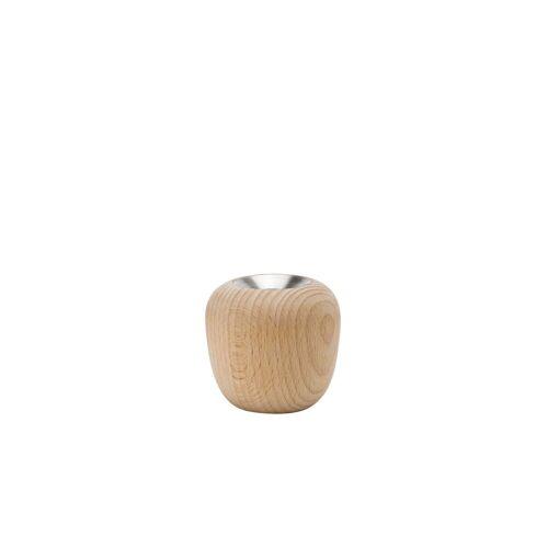 Stelton - Ora Kerzenständer, Ø 7,4 x H 7 cm, Buche