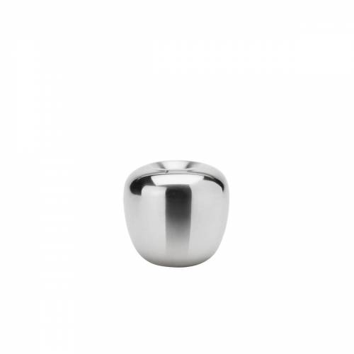 Stelton - Ora Kerzenständer, Ø 8,5 x H 8 cm, Edelstahl