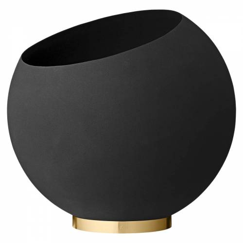 AYTM - Globe Blumentopf, Ø 60 x H 50 cm, schwarz