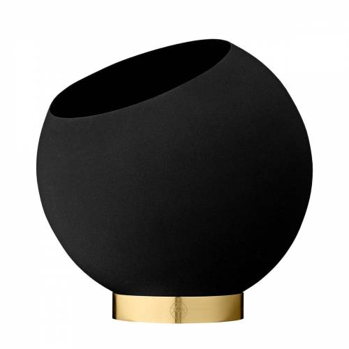 AYTM - Globe Blumentopf, Ø 21 x H 18,8 cm, schwarz