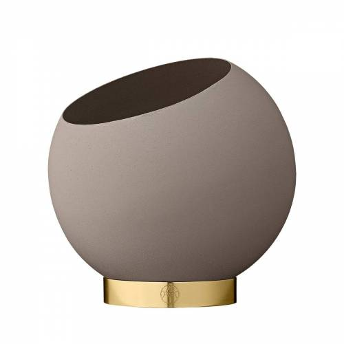 AYTM - Globe Blumentopf, Ø 17 x H 15,4 cm, taupe