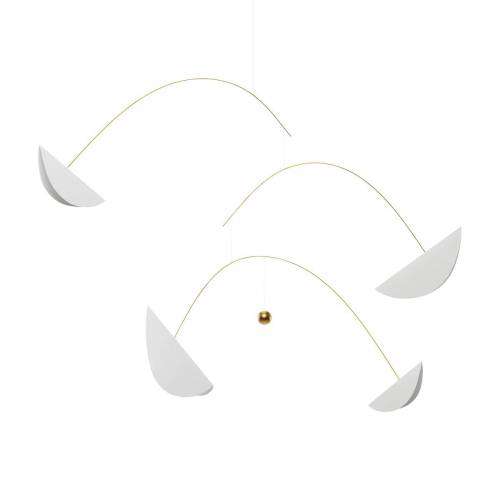 Flensted Mobiles - Life & Thread Mobile, weiß / gold