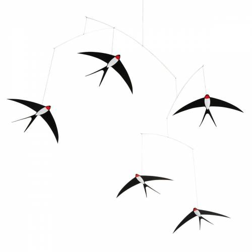 Flensted Mobiles - Flying Swallows Mobile 5