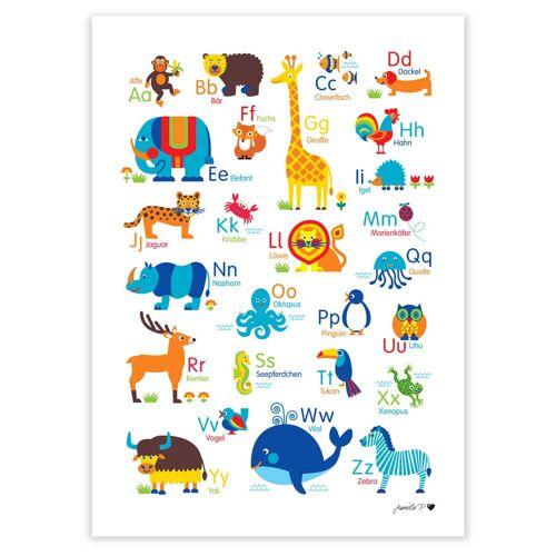 byGraziela - Tier ABC Poster, 50 x 70 cm