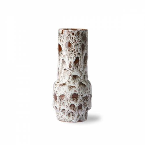 HKliving - Retro Keramikvase, lava weiß