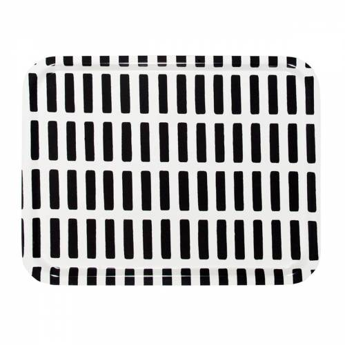 Artek - Siena Tablett Large, weiß / schwarz