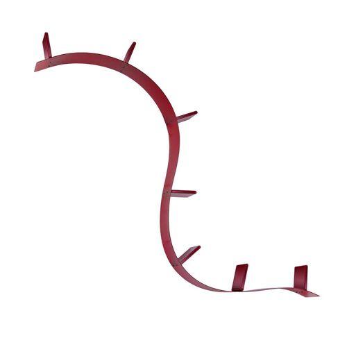 Kartell - Bookworm, kurzes Regal (C8 / weinrot)