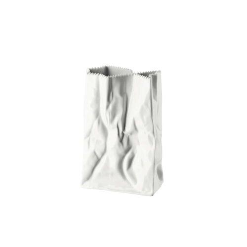 Rosenthal - Tütenvase, 18 cm, weiß glasiert