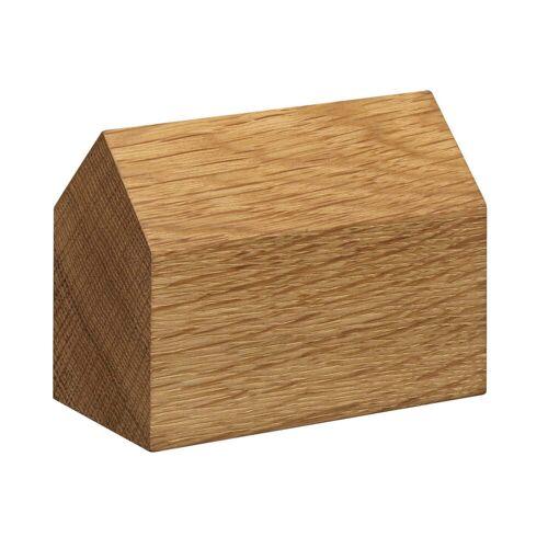 e15 - AC10 Haus Briefbeschwerer Eiche, Satteldach groß