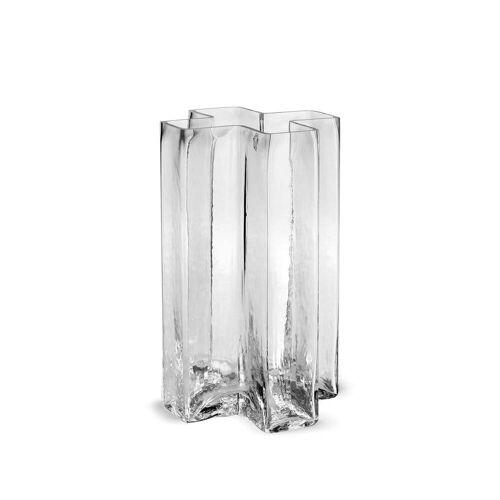 Holmegaard - Crosses Vase H 19,5 cm, klar