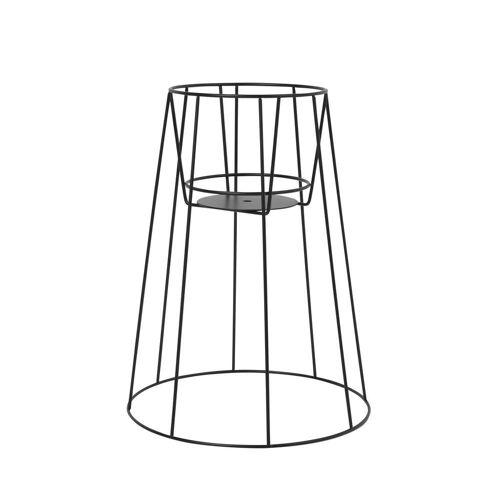 OK Design - Cibele Blumentopfständer H 45 cm, schwarz