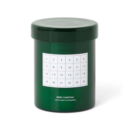 ferm LIVING- Zimt-Duftkerze Adventskalender, grün