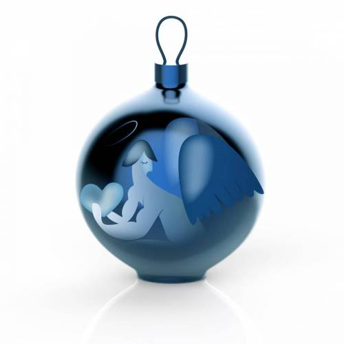 Alessi - Blue Christmas Christbaumkugeln, Engel