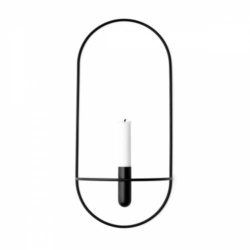 MENU - POV Kerzenhalter oval, schwarz