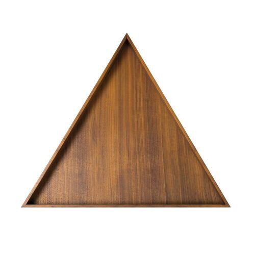 Conmoto - Karo Tablett, groß / Nussbaum