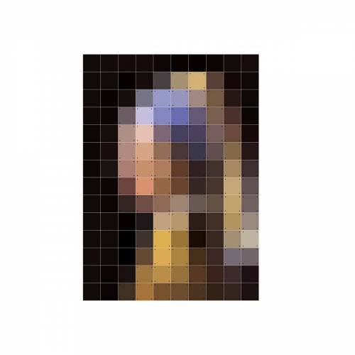 IXXI - Mädchen mit dem Perlenohrring (Pixel), 100 x 140 cm