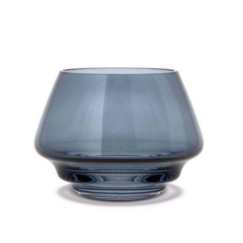 Holmegaard - Flow Teelichthalter Ø 10 cm, blau