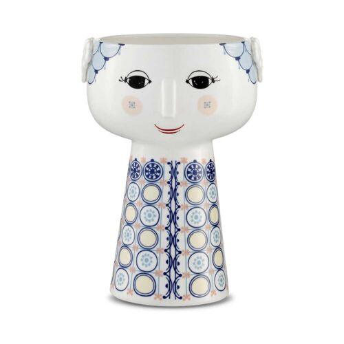 Bjørn Wiinblad- Eva Vase H 18,5 cm, blau