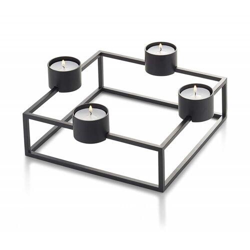 Philippi - Cubo Teelichthalter für 4 Teelichter, 20 x 20 cm, schwarz