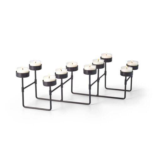 Philippi - Lab Teelichthalter für 10 Teelichter, schwarz