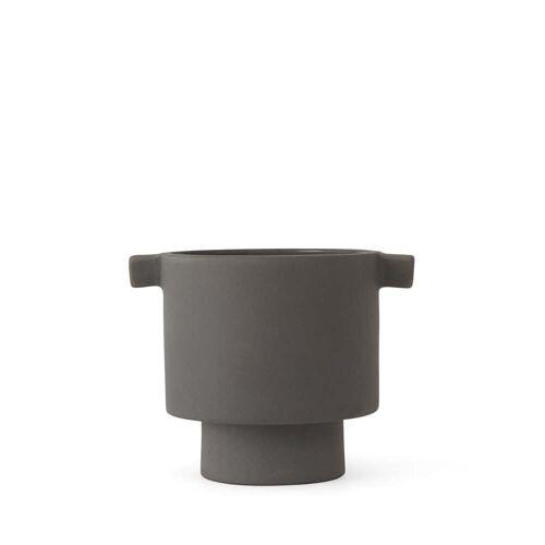 OYOY - Inka Kana Übertopf, Ø 10.5 x H 10.5 cm, grau