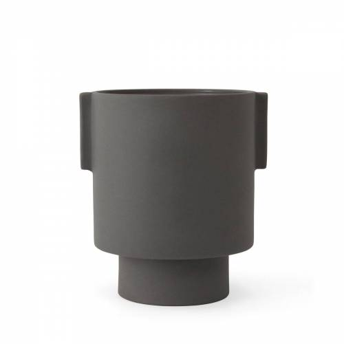 OYOY - Inka Kana Übertopf, Ø 15 x H 16 cm, grau