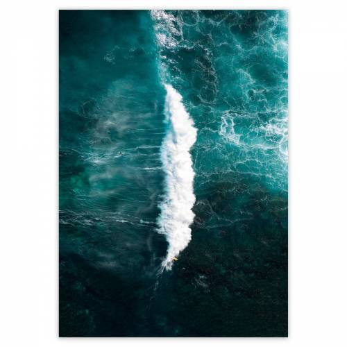 artvoll - Two Surfers Poster, 30 x 40 cm
